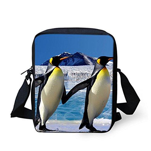 Hugsidea, Borsa A Tracolla Da Donna Nero Pug S Pinguino