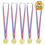 Whale 20 Packung Kinder Gold Gewinner Medaillen Auszeichnungen für Sport Tag Awards Spielzeug Party