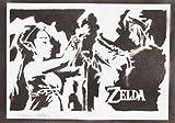 Zelda Und Link Handmade Street Art - Artwork - Poster