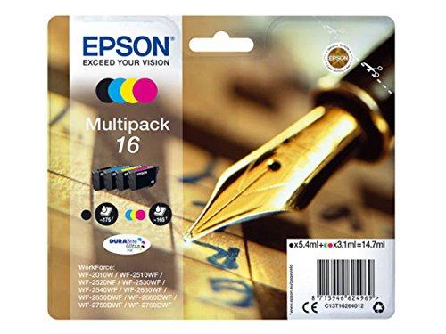 epson patronen 16 Epson original - Epson WorkForce WF-2660 DWF (16 / C13T16264012) - Tintenpatrone MultiPack (schwarz, cyan, magenta, gelb)