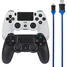 AmazonBasics - Cable de carga para mando de PlayStation 4 - Pack de 2