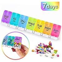Coardor Pillendose, für 7 Tage, BPA-frei, mit einzigartigem Federunterstützung, offenes Design für Reisen und... preisvergleich bei billige-tabletten.eu