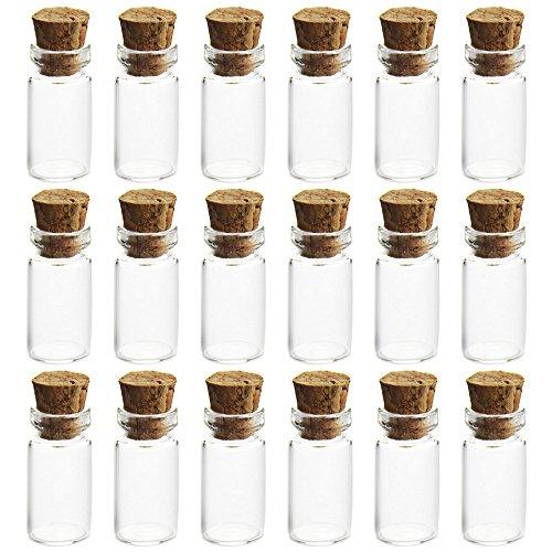 Vococal® 50PCS 1ml Vides Verre de Huile Essentielle Parfum avec Cork Stopper
