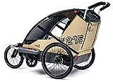 Leggero Vento R Kinderanhänger 2018, Farbe:Surf, Ausstattung:Sport (Scheibenbremse. Jogger- & Buggyset)