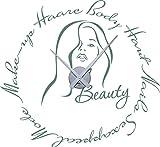 GRAZDesign 800545_SI_840 Tattoo Wanduhr inkl. Uhrwerk Wanddeko für Badezimmer Spruch Beauty Frau Haare (62x57cm//840 pastel turquoise//Uhrwerk silber)