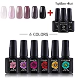Coscelia UV Gel Lacken Nagellack Set 6pc Gellacken Polish Set