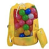 LAAT Strandspielzeug Tasche Strandtasche Mesh Beach Bag Faltbare Aufbewahrungstasche Strand Aufbewahrung Tasche Netz Sandspiel Netztasche für Sandspielzeug für Kinderferien Familie Urlaub (Gelb)