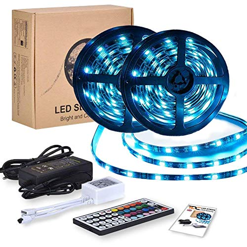 Tira Led rgb 12V 10m | Kit Tiras 5050 300 Leds Impermeable