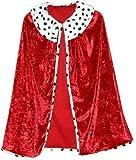 Trullala Königsumhang, Faschingsumhang, König-Kostüm, Kinderkostüm, Faschingskostüm, Größe: L (6-8 Jahre)