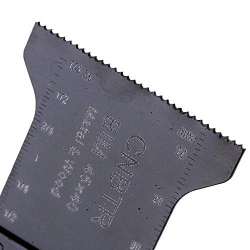 cnbtr schwarz kohlenstoffreicher Stahl und M42HSS Universal oszillierendes Sägeblatt Multi Tools, schwarz