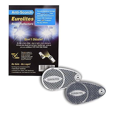 Headlight Adaptors Eurolites Anti-scorch Deflectors For European Driving