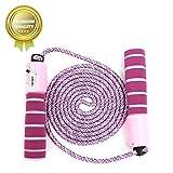 Springseil Speed Rope,springseil Boxen,springseil Sport Kinder,Springseil Kinder Speed Rope mit Zähler,Springseil Sport,Verstellbares Speed Rope Seilspringen! (Lila)