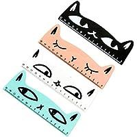 Spaufu - Regla de dibujo de gato (4 unidades), diseño de gato
