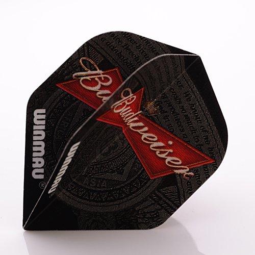 f2091-budweiser-bow-tie-std-ailettes-de-flechettes-4-jeux-par-paquet-12-vols-au-total