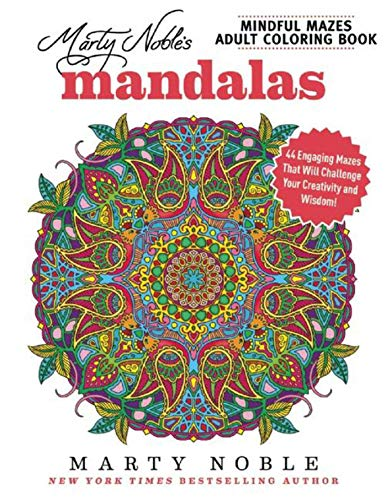 Paper Flower Brads (Marty Noble's Mindful Mazes Adult Coloring Book: Mandalas: 48 Engaging Mazes That Will Challenge Your Creativity and Wisdom!)