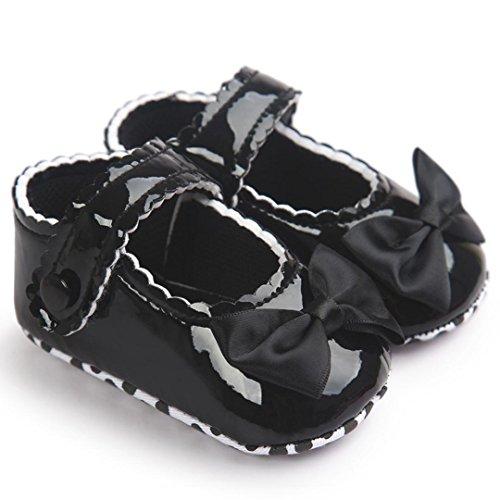 Reasoncool Principessa dell'arco pattini di bambino calza scarpe da bambino Nero