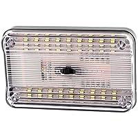 Luz LED de techo de coche - SODIAL(R) Luz interior de tencho de 36 SMD LED de color blanco