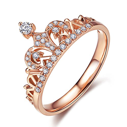Addic Richly Rosegold Colored Framed In Diamond Studded Fashion Ring