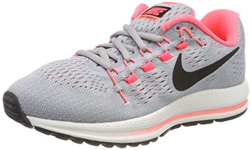 Nike Damen Air Zoom Vomero 12 (Wide) Laufschuhe, Grau (Wolf Grey/Black-Pure Platinum-Hot Punch), 36 EU Nike Zoom Vomero Damen