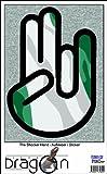 The Shocker Hand Aufkleber Decal Sticker 15cm Autoaufkleber außenklebend schwarzer Umriss mit Fahne Vanuatu-Vanuatu