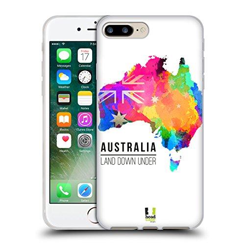 Head Case Designs Land Down Under Australien Aquarell Karten Soft Gel Hülle für Apple iPhone 6 Plus / 6s Plus Land Down Under Australien