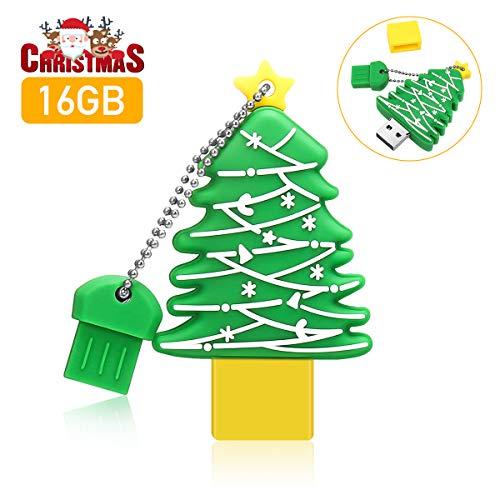 MECO Speicherstick 16gb, USB Stick Memory Stick USB 2.0 Pen Drive USB Flash Laufwerk mit Schlüsselanhänger für Halloween/Weihnachten Geschenk für Familie Freund Kind