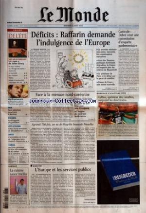 MONDE (LE) [No 18221] du 27/08/2003 - CAHIER DE L&...