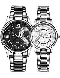 Resistente al agua reloj de cuarzo/El cinturón de parejas forman un par de/ simple y casuales relojes-G
