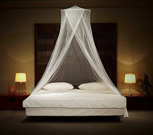 Kyerivs Moskitonetze für Bett, Premium-Netzeinsatz für zu Hause oder unterwegs, inklusive Aufhängeset, Reisetasche, ohne Chemikalien. Passend für alle Betten bis zu King Size.