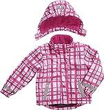 Playshoes Mädchen Schneeanzug Schnee-Jacke Karo pink, Rosa (original), (Herstellergröße: 80)