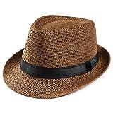 LiucheHD Moda Cappellini con Visiera da baseball Hip-Hop Unisex Cappello da sole Cappellino da turismo sportivo con cappello di paglia selvaggio (caffè, Taglia unica)