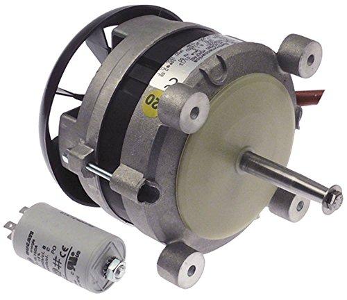 FIR 3003A2357 Lüftermotor 230V 0,25kW 2600U/min 50Hz 1 -phasig D1 ø 12mm D2 ø 10mm Geschwindigkeiten 1 M6 Länge 90mm L2 38mm