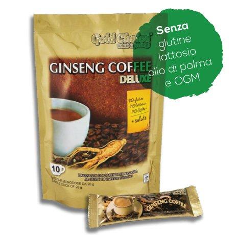 Ginseng Coffee Deluxe - Löslicher Kaffee mit Ginseng - 10 Sticks à 20g