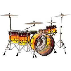 Ludwig Vistalite 24'' LTD Tequila Sunrise · Drum Kit