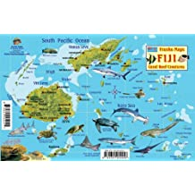 Fiji Map & Reef Creatures Guide Franko Maps Laminated Fish Card