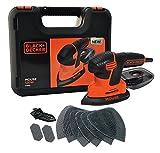 Black & Decker KA2500K-GB - 120W Next Generation Ratón Sander Con Kit Box Y 9-Accesorios (importado de Reino Unido)