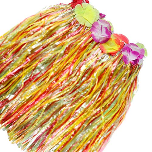 Busirde Hawaiian Luau Hula Röcke Hibiscus Blumen-Geburtstag-Tropische Partydekoration Bevorzugungen Supplies