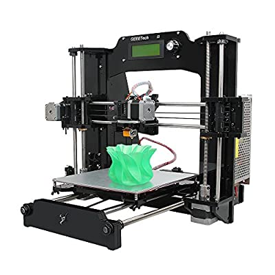Geeetech® Acrylic Prusa I3 X 3D-Drucker-Bausatz zum Selbstbauen Unterstuetzung von 6 Filament Typen, Desktop 3D-Drucker - PLA, ABS, Holz-Polymer, Nylon, flexible PLA und PVA.