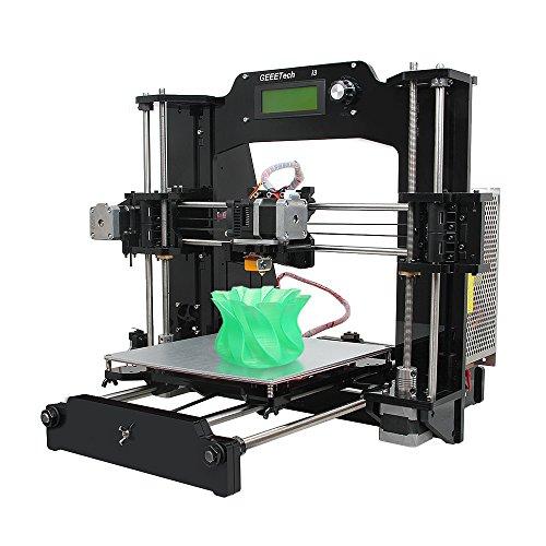 Geeetech® Acrylic Prusa I3 X Drucker-Bausatz zum Selbstbauen Unterstützung von 6 Filament Typen, Desktop 3D-Drucker