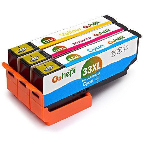Gohepi Ersatz für Epson 33 33XL Farbe Druckerpatronen Kompatibel für Epson Expression Premium XP-640 XP-530 XP-830 XP-635 XP-900 XP-630 XP-540 XP-645 (1 Blau, 1 Rot, 1 Gelb)
