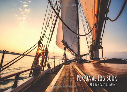 Personal Log Book: For Sailors of Yachts and Motorboats   Sailing Boat at Sunset