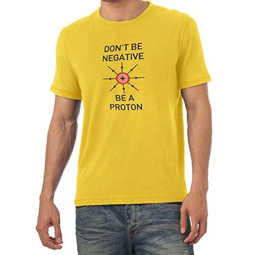NERDO - Don't be a negative, be a Proton - Herren T-Shirt, Größe S, (Kinder Kostüm Chemiker)