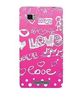 Vizagbeats Love Wallpaper in Pink Back Case Cover for Lenovo Vibe Z K910