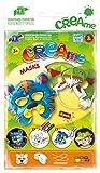 Feuchtmann Spielwaren 6340704 - Klecksi Creame Masks, 3D Malvorlage, Motiv Katze und Hai