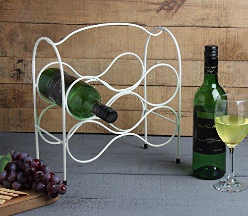 Storeindya Geschenke Handgefertigte Weinflasche Gestell, Wine Bottle Holder 5 Flaschenhalter Stehen Arbeitsplatte Schmiedeeisen Bar Zubehör Heim und Büro Dekor für die Wohnkultur 5 Bottle Holder