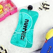 Nutri fill-it batido reutilizable bolsas (Pack de 2fundas), color verde–gran reutilizable bolsas para adultos y niños