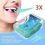 Forcelle Interdentali, Filo Interdentale Flossper Denti Orale Cura Denti e Salute Igiene Orale 3 Scatola * 60 Pcs Flosser Forcella