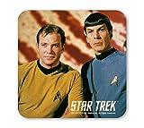 Star Trek - Captain Kirk und Spock Coaster - Untersetzer - farbig - Lizenziertes Originaldesign - LOGOSHIRT