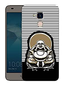 """Humor Gang laughing buddha on chair Printed Designer Mobile Back Cover For """"Huawei Honor 5C"""" (3D, Matte Finish, Premium Quality, Protective Snap On Slim Hard Phone Case, Multi Color)"""