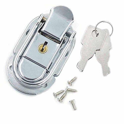 Sperren Brust (210Sets Toggle Fall Catch Latch Trunk für drawbolt Schließung Brust Koffer Sperren 55x 34mm Nickel)